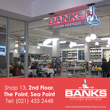 Banks Kitchen Boutique Kitchenware, Bakeware and Glassware in Sea Point, Cape Town