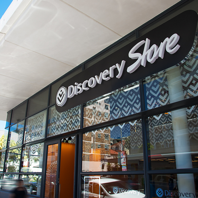 Exterior of Discover Store in The Point