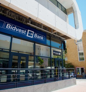 Exterior of Bidvest Bank at The Point Mall