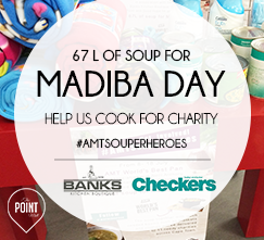 World's Best Pan #AMTSouperHeroes to Cook 67L of soup for Madiba Day